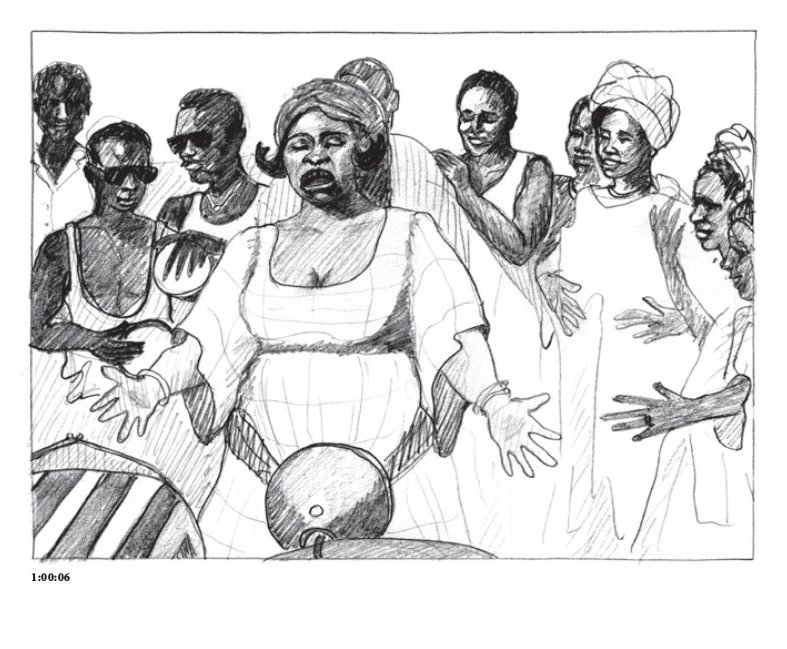 Post storyboard, d'après le film Touki Bouki de Djibril Mambety Diop