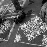 Kolam drawing contests