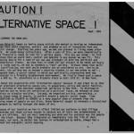 Caution. Alternative Space!, 1981, handout